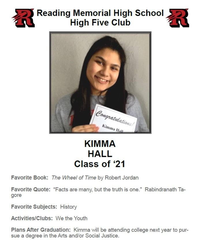 HIGH FIVE KIMMA HALL